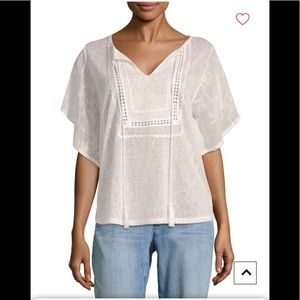 Tops - August silk batwing sleeve top cotton ball,NWT
